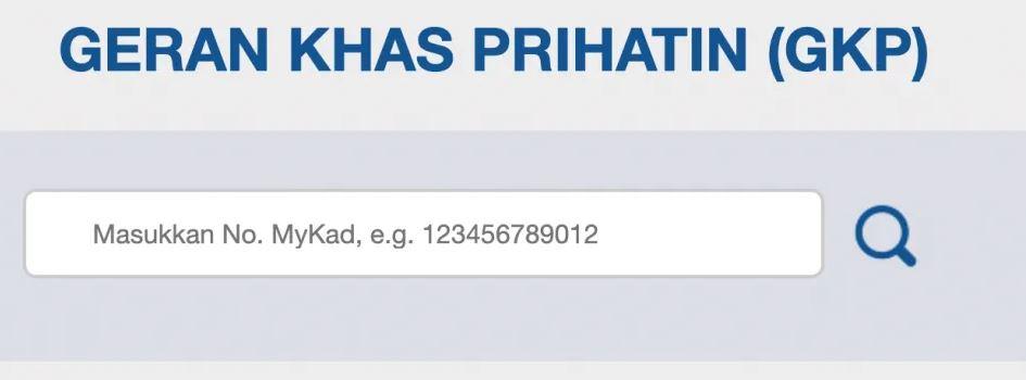 Semakan Permohonan Geran Khas Prihatin (GKP) Online