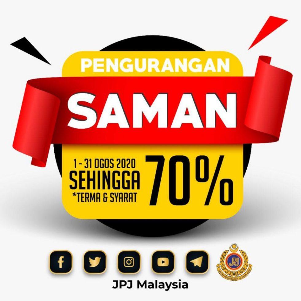 Semak & Bayar Saman Online Diskaun 70%