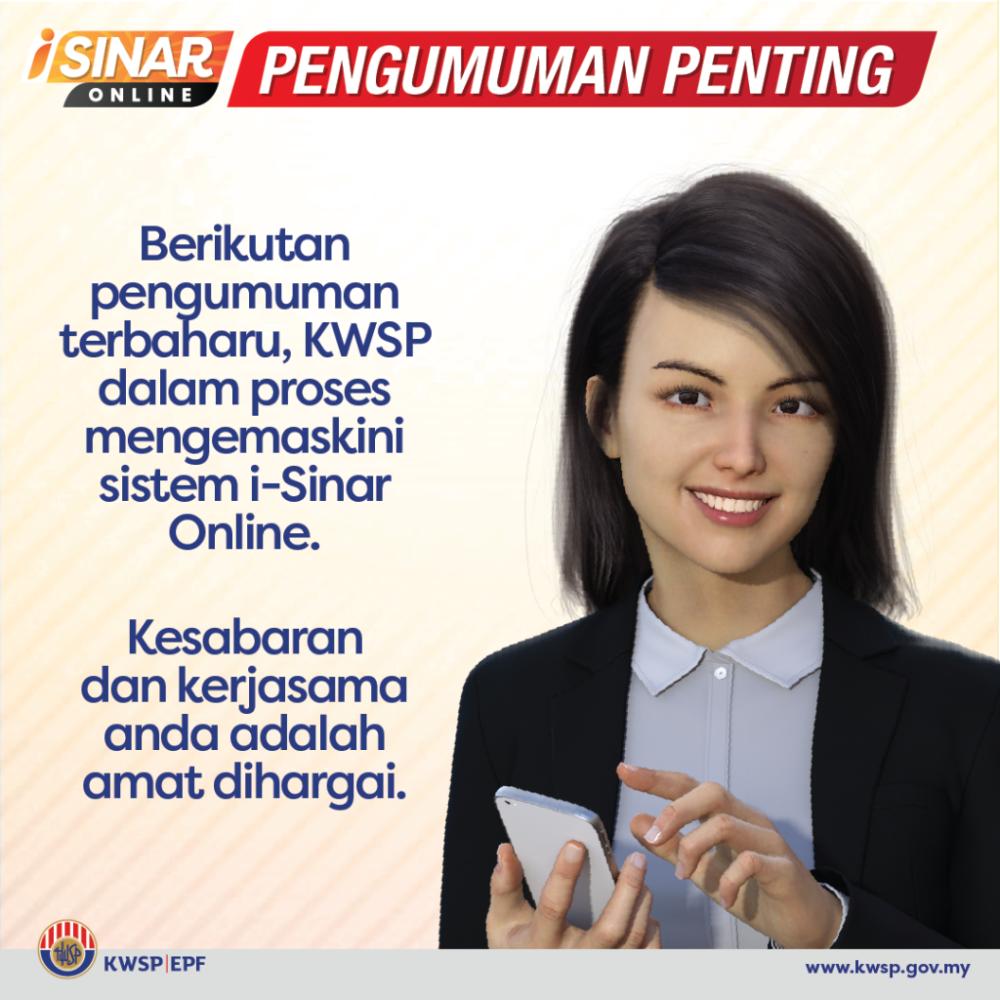 Pengeluaran iSinar KWSP Tanpa Syarat