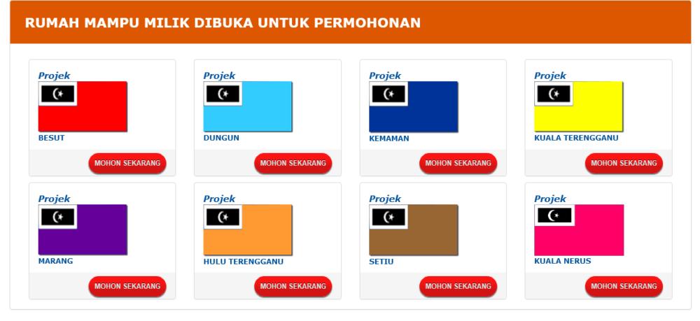 Permohonan Rumah Mampu Milik Terengganu 2021 Online