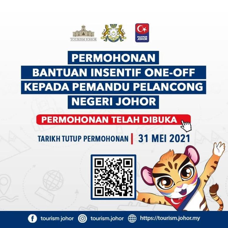 Permohonan Bantuan Pelancongan Johor