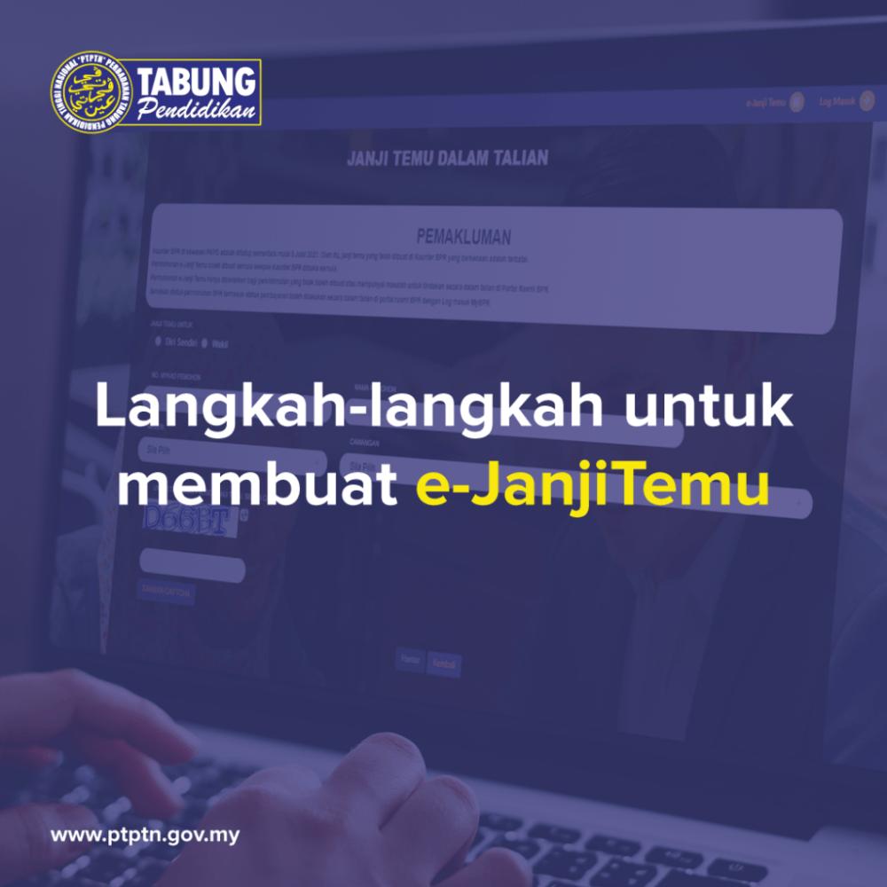 Temujanji PTPTN Online 2021: Urusan PTPTN Di Kaunter